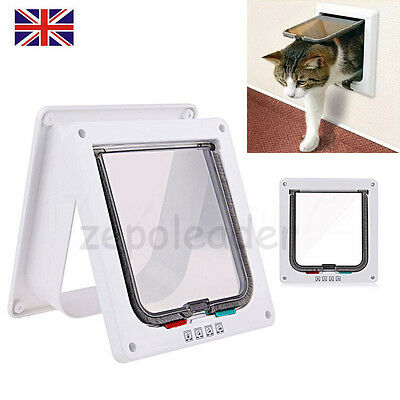 Hot Pet mate 4 way locking Lockable Magnetic cat flap white pet door With Liner