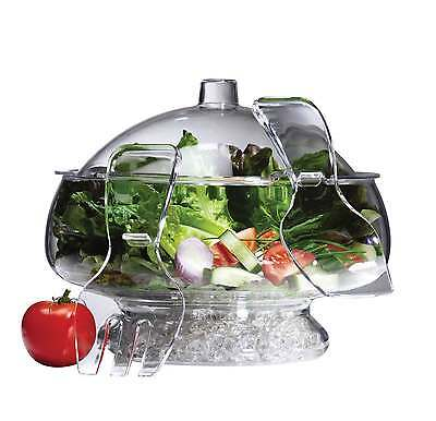 Serroni Fresco On Ice Salad Bowl With Dome Lid RRP $83.95 Unbreakable