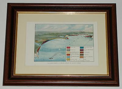 Isle of Wight Geological Map Plate circa 120 years old also available unframed