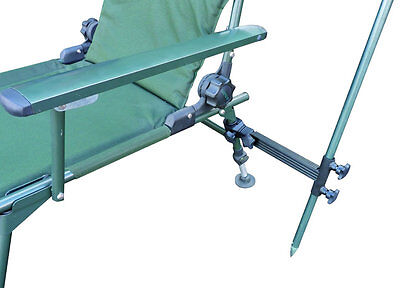 Clamp On Double Locking Brolly Bracket *Chair Accessory For Fishing*
