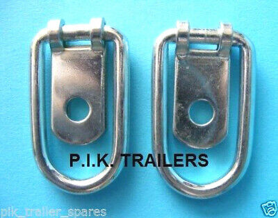 2 x Small Steel Tie Down Lashing Ring for Horsebox & Trailers #1062