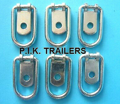 6 x Small Steel Tie Down Lashing Ring for Horsebox & Trailers #1062