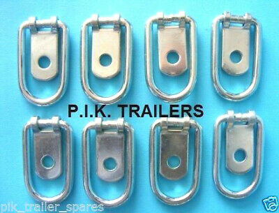 8 x Small Steel Tie Down Lashing Ring for Horsebox & Trailers #1062