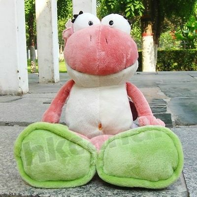 Cute flower red frog soft toy for baby dolls plush toy 50 cm stuffed animals