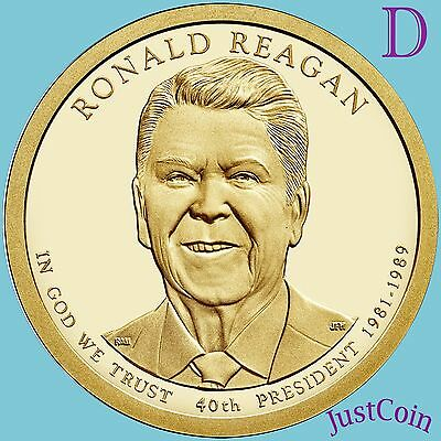 2016-D Ronald Reagan #40 Presidential Dollar Uncirculated From Mint Rolls