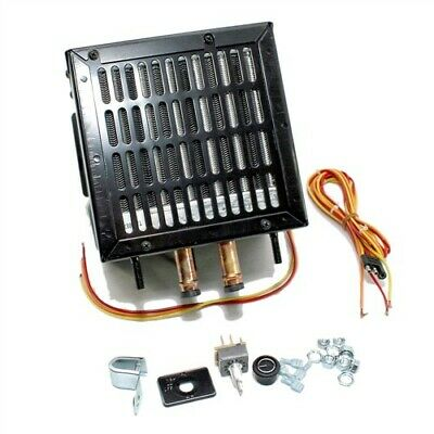 """Compact Low Profile Auxiliary Cab Cabin Heater 8""""x8""""x8"""" 12v 12000 BTU Output"""