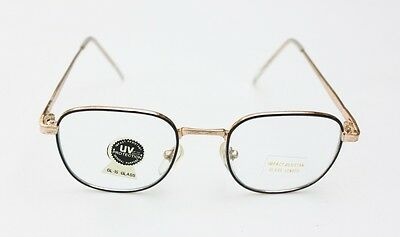New 80's Retro Vintage Clear Lens Gold Metal Frame Women Men Eyeglasses Glasses