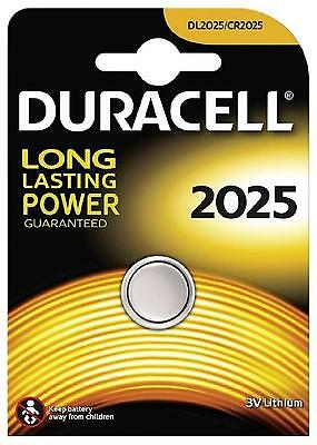 3x Duracell 2025 3V Lithium Coin Cell Batteries CR2025/DL2025 Battery - New
