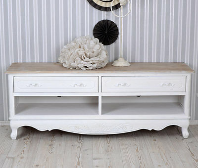 fernsehtisch shabby weiss tv m bel sideboard landhausstil. Black Bedroom Furniture Sets. Home Design Ideas