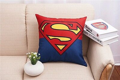 Cotton Linen superman Throw Pillow Case Cushion Cover Home sofa pillowslip 45cm