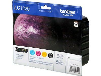 PACK 4 CARTOUCHES BROTHER LC1220 NOIR JAUNE MAGENTA  CYAN / noire lc1220valbp
