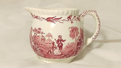 """Mason's Watteau PINK 3 1/4"""" Tall Round Shape 8oz Creamer in Excellent Condition"""