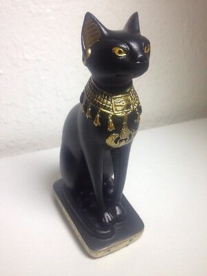"5"" Bastet Ubasti Cat Goddess Ancient Egyptian Mythology Statue Figurine"