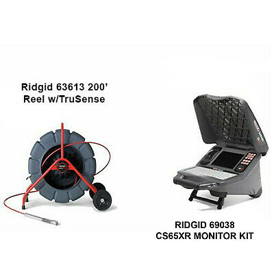 Ridgid 200' w/TS Reel (63613) CS65x with wifi (55978) with 2 bats and charger