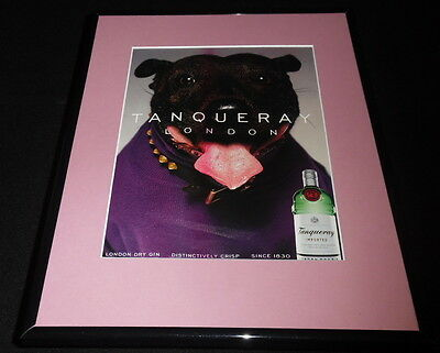 2001 Tanqueray Gin London Framed 11x14 ORIGINAL Vintage Advertisement