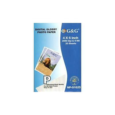 Abacus 24-7 : OA-100 Premium Photo Paper | Glossy | 20 Sheets | 4 x 6