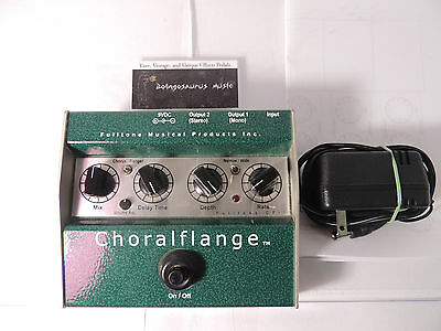 FULLTONE CF-1 CHORALFLANGE CHORUS FLANGER EFFECTS PEDAL w/MANUAL AND ADAPTER