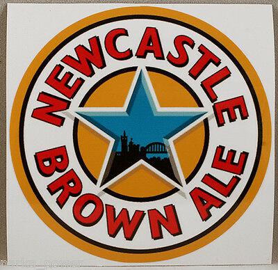 Newcastle Brown Ale Sticker, British Beer decal, Stick on vehicles, laptops,