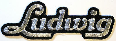 Ludwig Drums Text Iron / Sew on Patch, Badge, Old School
