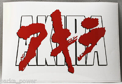 Akira Text Decal, sticker, Japanese epic animated science fiction thriller film