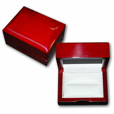 NEW 12 Cherry Rosewood Wood Wooden Double Ring Jewelry Box