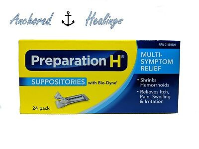Preparation H Suppositories with Bio-Dyne Multi-Symptom Relief-24 pack EXP.05/18