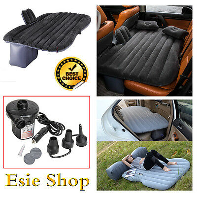 Camping Air Bed Car Travel Inflatable Mattress Vehicle Mount SUV Back Seat