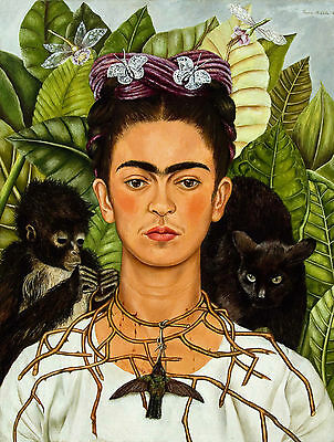 Frida Kahlo Poster 9 - Various Sizes - Waterproof Wipe Clean Laminated Option