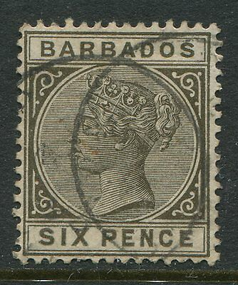 Barbados 1882 6d olive gray CDS used