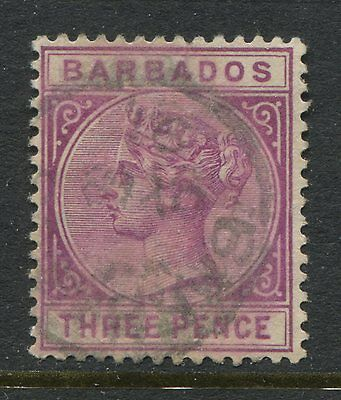 Barbados 1882 3d magenta CDS used