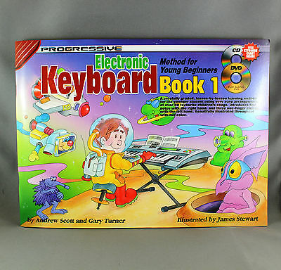 Progressive Electronic Keyboard Method For Young Beginners Book 1 - Book/CD/DVD