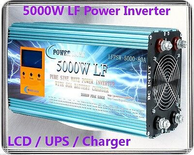 20000W/5000W LF Pure Sine Wave 24V DC/240VAC 50Hz Power Inverter LCD/UPS/Charger