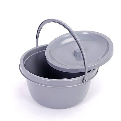 New Replacement Commode bucket with Lid and handle Health Care 2016