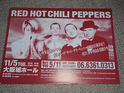 RED HOT CHILI PEPPERS Japan live concert gig flyer mini poster promo (2003?)