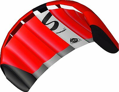 Brand New Hq Symphony Pro 1.3M Neon Red Power Kite Package