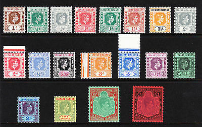 LEEWARD ISLANDS 1938-51 COMPLETE SET SG 95-114b MNH.