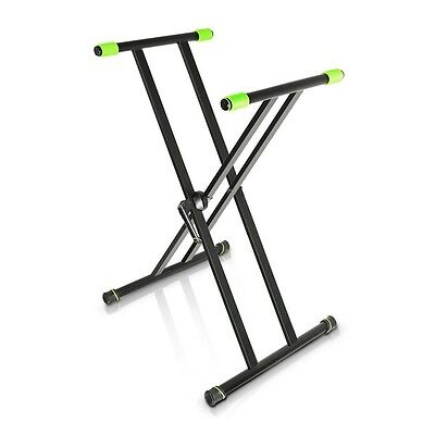 Gravity KSX 2 Height Adjustable X-Form Double Black Foldable Keyboard Stand