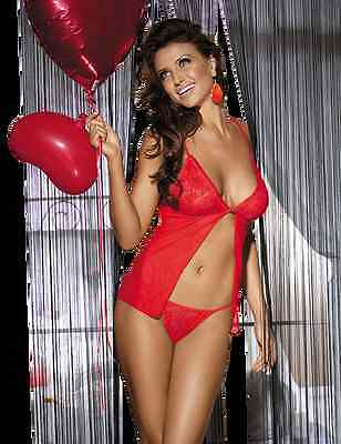 Beauty's Love – Set Babydoll und String – Farbe: rot