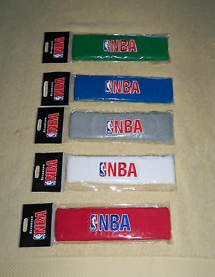 NBA : NBA Headband - New - White, Grey, Blue, Green and Red