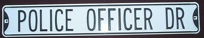 POLICE OFFICER DR Steel Street Sign decor signs cars sheriff Home police novelty