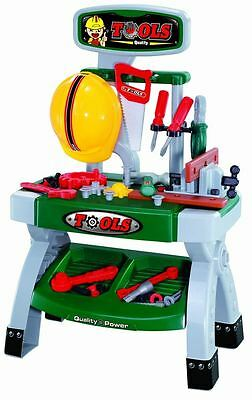 Childrens Work Bench Diy Tool Kit Play Set Construction Building Carpenter Toys