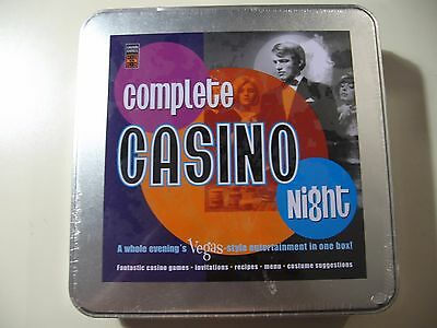 Complete Casino Night, game, Brand New & Sealed in tin
