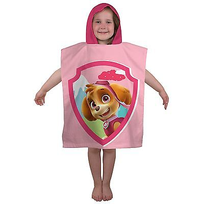 Paw Patrol Stars Skye Hooded Towel Poncho Girls 100% Cotton New Free P+P