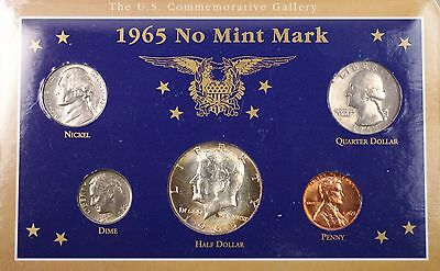 1965 United States No Mint Mark Coin Collection 40% Silver Kennedy Half $