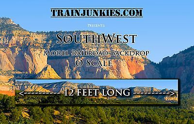 "Train Junkies O Scale ""Southwest""  Backdrop 24x144"" C-10 Mint-Brand New"