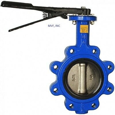 """Butterfly Valve 6"""" Lug Style Ductile Body Bronze Disc Buna Rubber Seat"""