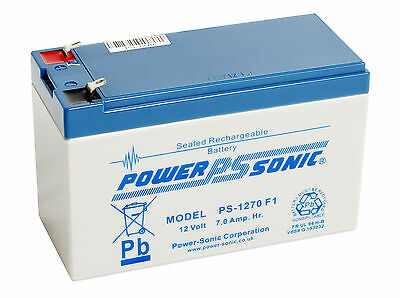 Exide Powersafe EP1229W EP1234W Battery by Powersonic 12v 7ah ps