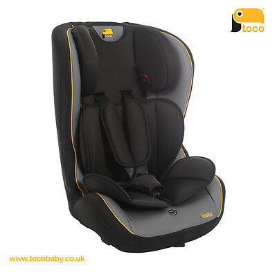 toco™ Looka Group 1,2,3 Car Seat, Black/Grey, New, RRP £89.99