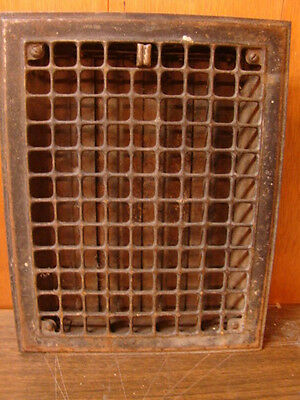 Vintage 1920S Cast Iron Heating Grate Square Design 14 X 11 A