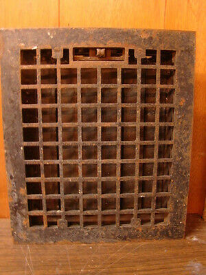 Vintage 1920S Cast Iron Heating Grate Square Design 14 X 12 A